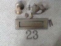 Brass Edwardian/Victorian door furniture.