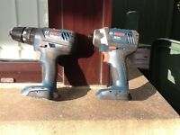 Bosch 18v combi drill and impact driver