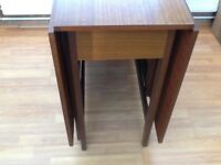 Vintage Gate Leg (drop leaf) Wood Table Genuine 1960's Excellent Condition