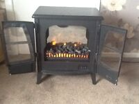 Coal effect electric stove