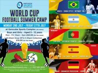 World Cup Football Summer Camp (Boys & Girls 5-12 yrs old @ Garscube Sports Complex, 2nd-27th July)