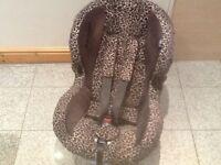 Maxi-Cosi Priori group 1 car seat for 9kg upto 18kg-excellent condition-leopard print design