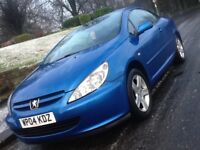 2004 PEUGEOT 307CC COUPE CONVERTIBLE WITH FULL SERVICE HISTORY AND FULL MOT