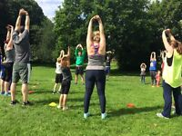 Child and Parent outdoor fitness classes