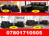 SOFA BRAND NEW SOFA RANGE CORNER AND 3+2 LEATHER AND FABRIC ALL UNDER £250 68356