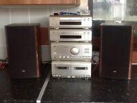 Jvc separets speakers amp radio cd and twin tape deck very loud