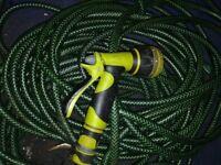 Garden Hose with Sprinkler Attachment