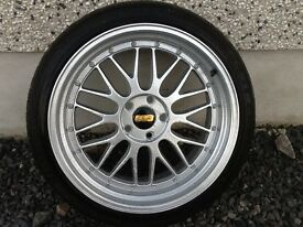 19INCH BY 9.5 - 5/100 BBS LM ALLOY WHEELS JUST HAD A COMPLETE REFURB INSIDE&OUT LIKE NEW WITH TYRES