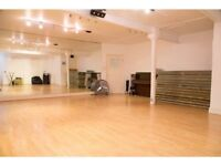 Dance studio available in central London