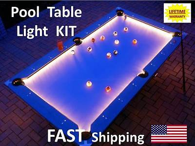 LED Pool & Billiard Table Lighting KIT - light your pool table Felt - BRIGHT
