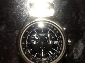 Mens swatch watch stainless steel crono