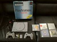 Boxed original PlayStation in excellent condition