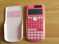 Casio scientific pink calculator