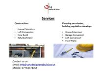 Construction, refurbishment, architectural services, drawings, building regulation