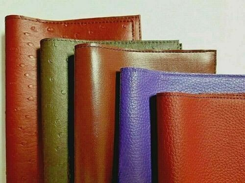 Book Cover Faux Leather Embossed Ostrich (Multiple Colors available)