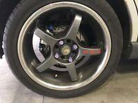 "Ford 17"" alloy wheels 4x108 focus Fiesta escort fusion etc"