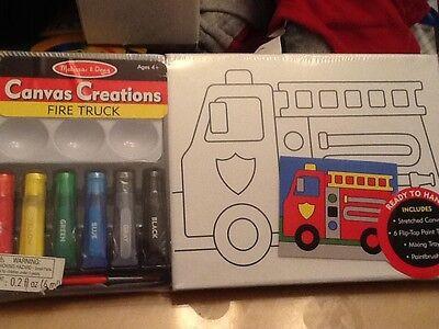 NEW Melissa and Doug kids crafts fire truck paint -