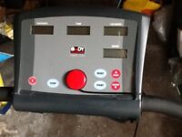 Electric treadmill with safety stop feature