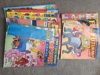 Various Futurama and Simpsons Comics