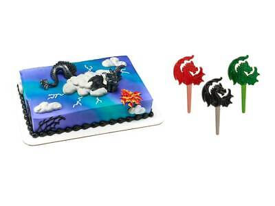 Dragon Cake Topper PLUS 24 Dragon Cupcake Picks](Dragon Cake Topper)