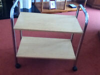 Trolley - Chrome and wood effect - very good condition