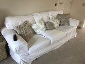 3 Seater Sofa - cream removable covers