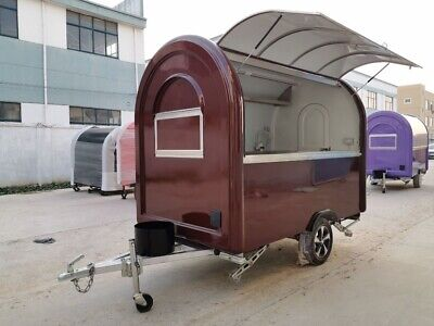 Mobile Food Cart Trailer - Made To Order Stainless Steel Model