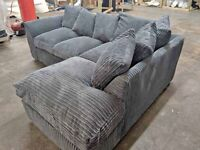 BRAND NEW COUCHES DYLAN JUMBO CORD CORNER OR 3+2 SOFA SET AVAILABLE IN STOCK ORDER NOW