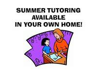 SUMMER TUTORING FOR ELEMENTARY STUDENTS