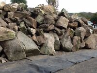 Small to very large size garden rocks suitable for building or decoration