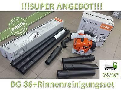 Stihl BG 86 Handliches Blasgerät Laubbläser + Dachrinnen Reinigungsset + GRATIS