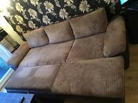 Brown modern sofa bed for sale in very good condition
