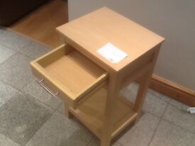 £5-Side table with pull out draw-37cm wide x 32cm depth x65cm height