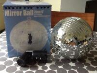 Powered mirror ball