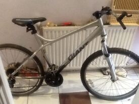 "GIANT Hardtail Mountain Bike 20"" frame needs disc. in Good condition Just Needs disc and brakes."