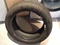 Part worn car tyre for sale