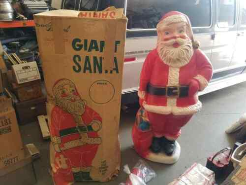 Vintage Beco Giant 60-inch Santa Blow Mold Great Shape With Original Box No.952