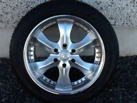 20INCH 6/139.7 KAYA ALLOY WHEELS 9.5/20 ET20 WITH TYRES FIT MITSUBISHI SHOGUN PAJERO L200 ETC