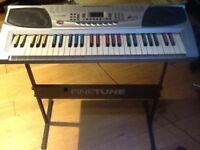 'Finetune Professional' Electronic Keyboard with stand