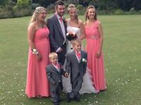 Beautiful coral size 8 bridesmaid dress