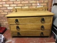 Solid Wood 3 Chest of Drawers