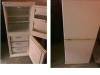 PLEASE RING OR TEXT FIRST Creda fridge freezer 53 inches high x 21.5 inches Good working order