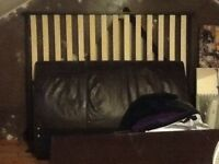 Brown leather king size sleigh bed FREE!!!!