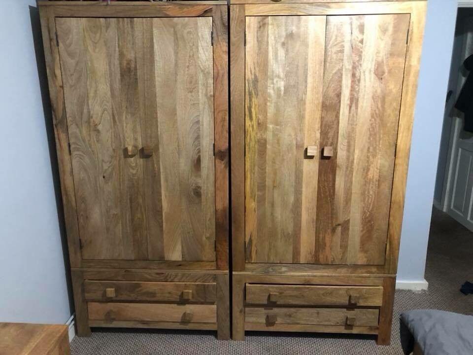 Oak furniture land mango wood wardrobes x2 | in Solihull ...