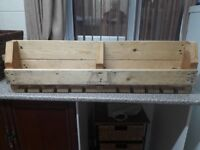 Brand new rustic wall mounted wine rack made from top quality reclaimed wood. £35 Redcar Ings