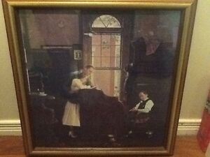 Norman Rockwell wedding painting