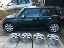 "MINI Cooper S R53 BULLET (R91) 17"" Alloy Wheels x4"