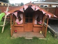 Large wooden wendy house play house 3 years old