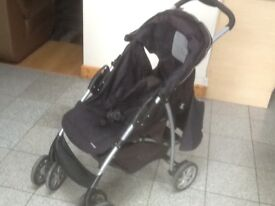 Graco pushchair for upto4yr old with raincover-vacuumed and cleaned in full working order