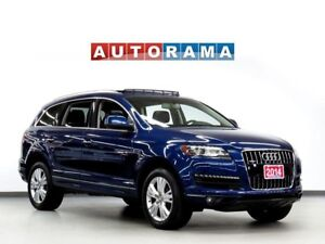 2014 Audi Q7 LEATHER BACKUP CAM PAN SUNROOF 7 PASS 4WD